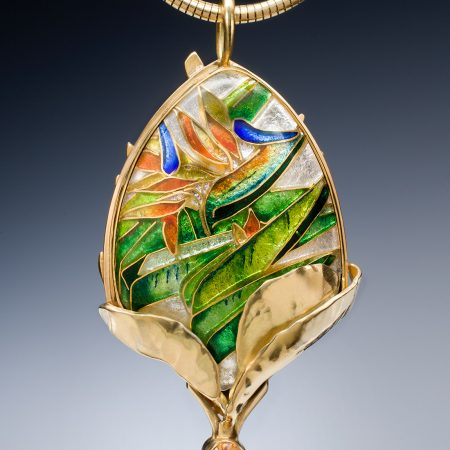 Custom Enamel Pendant made by Patsy Croft