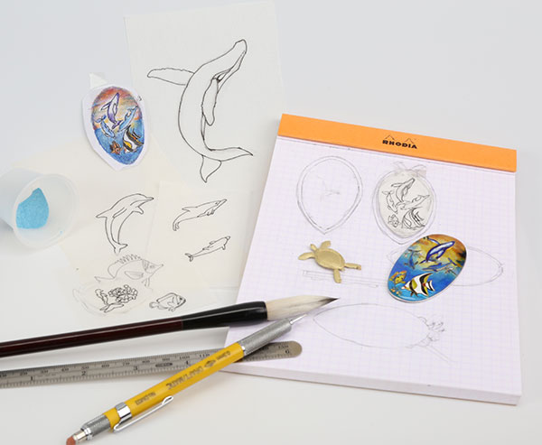 Cloisonne Jewelry | Enamel Jewelry | The Process