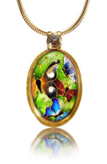 Butterfly Necklace   Butterfly Jewels   Cloisonne Enamel