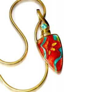 Spring Flowers Enamel Necklace | Fine Enamel Jewelry