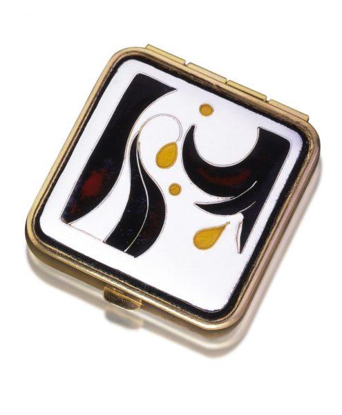 Hibiscus Travel Box | Enamel Jewelry Box | Custom Cloisonne Jewelry