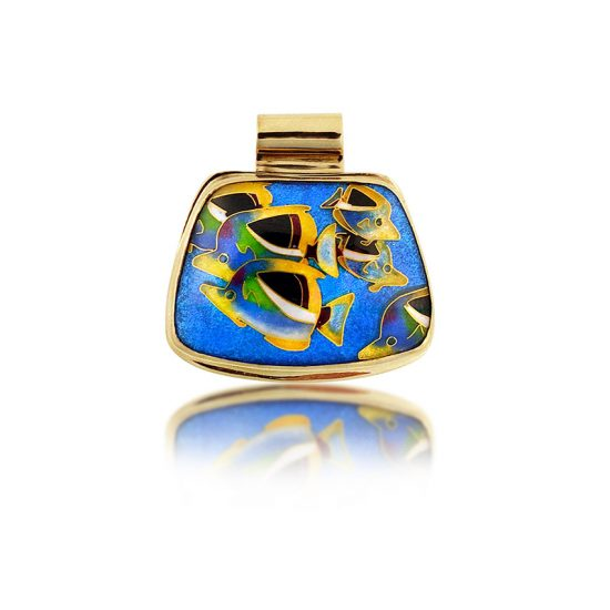 Butterfly Fish | Cloisonne jewelry | Enamel jewelry | Unique jewelry designs