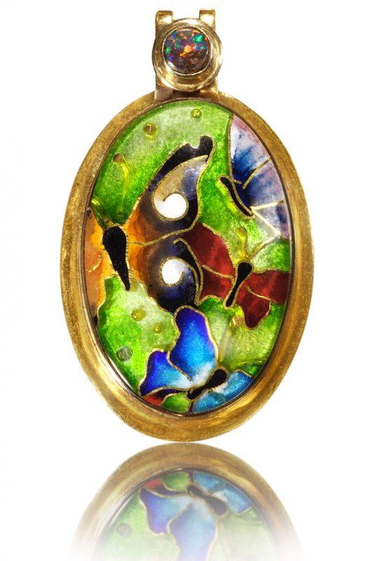 Cloisonne Jewelry   Butterfly   Enamel Jewelry created by Patsy Croft