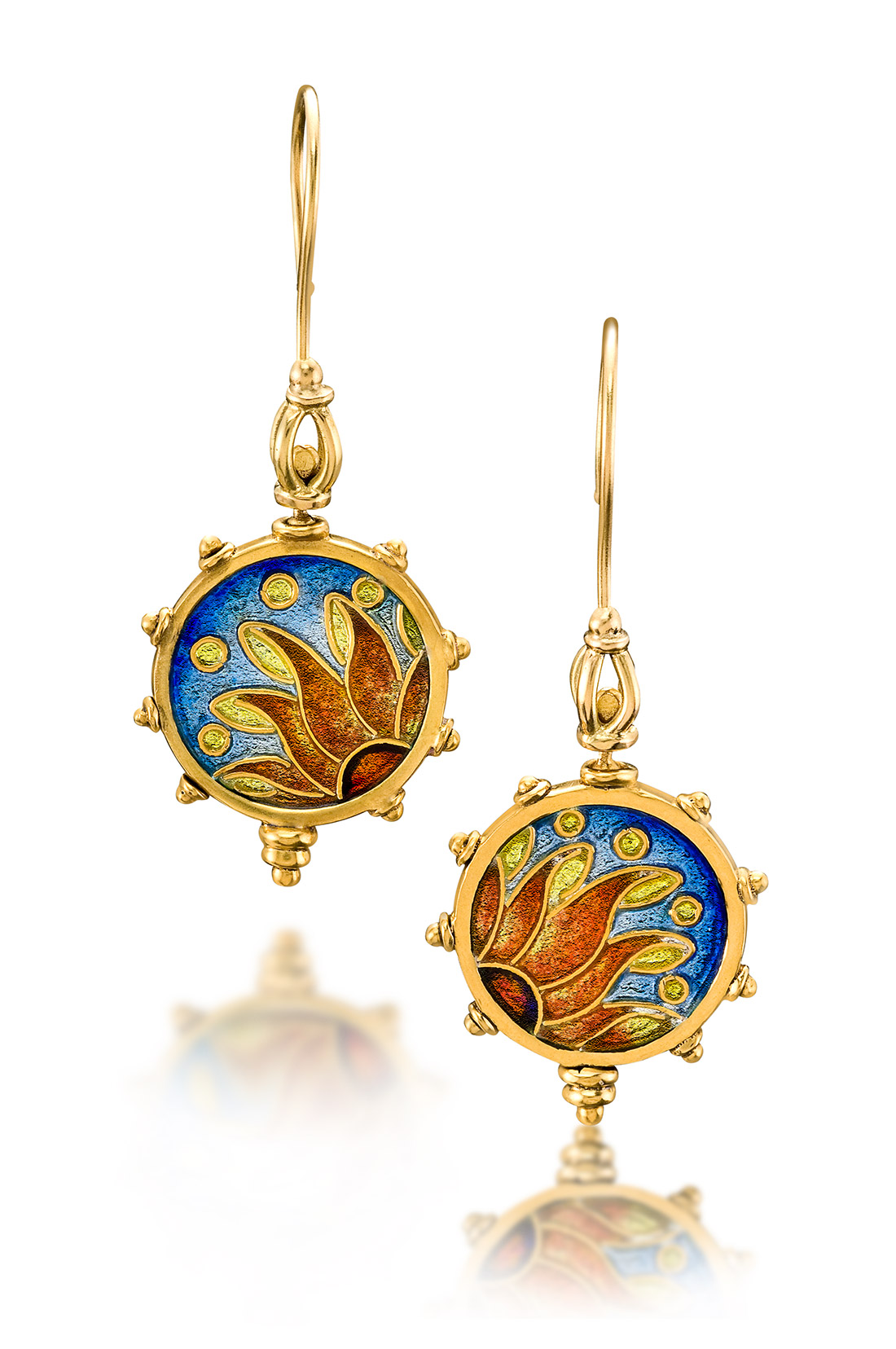Custom Enamel Earrings | Pathos | Enamel Jewelry by Patsy Croft