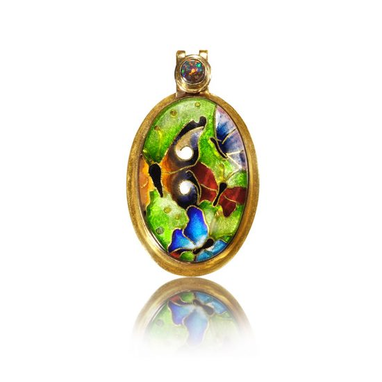 Cloisonne Jewelry | Butterfly | Enamel Jewelry created by Patsy Croft
