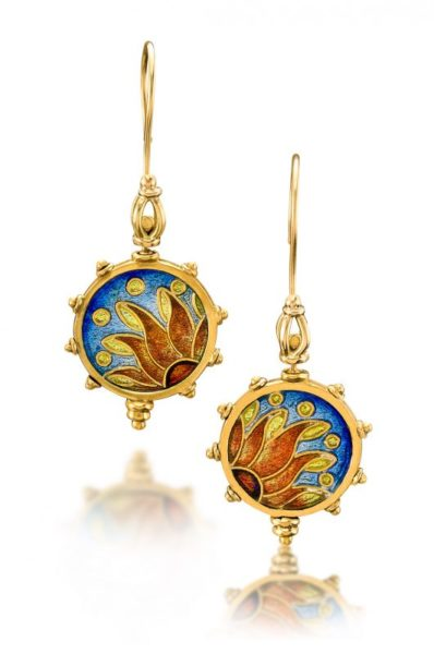 Pathos Eternal Sunshine Earrings | Artisan Earrings | Handmade Cloisonne Earrings
