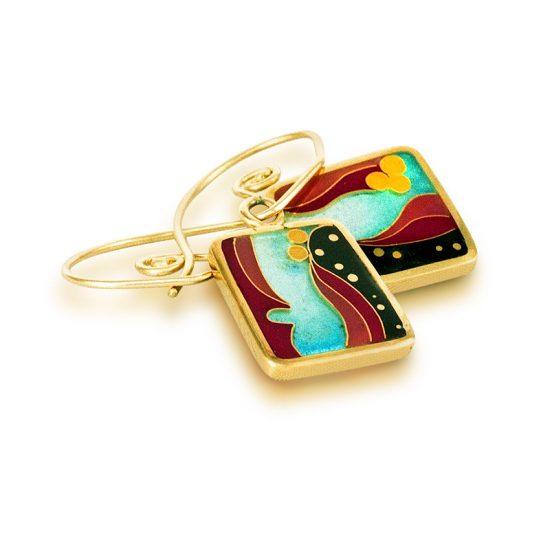 Coral Reef | Cloisonne Jewelry | Enamel Jewelry | Unique Jewelry Designs
