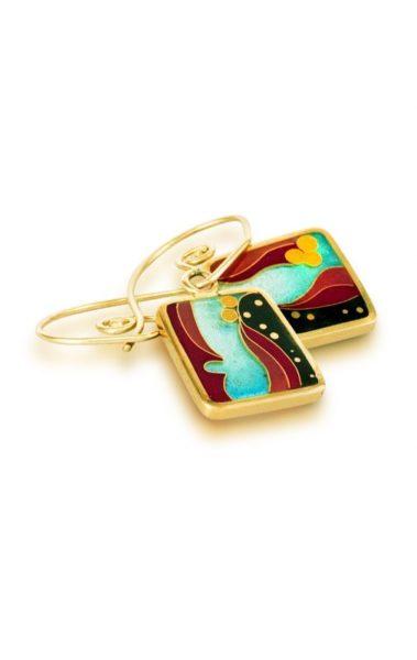 Coral Reef | Cloisonne Earrings | Oceanic Jewelry