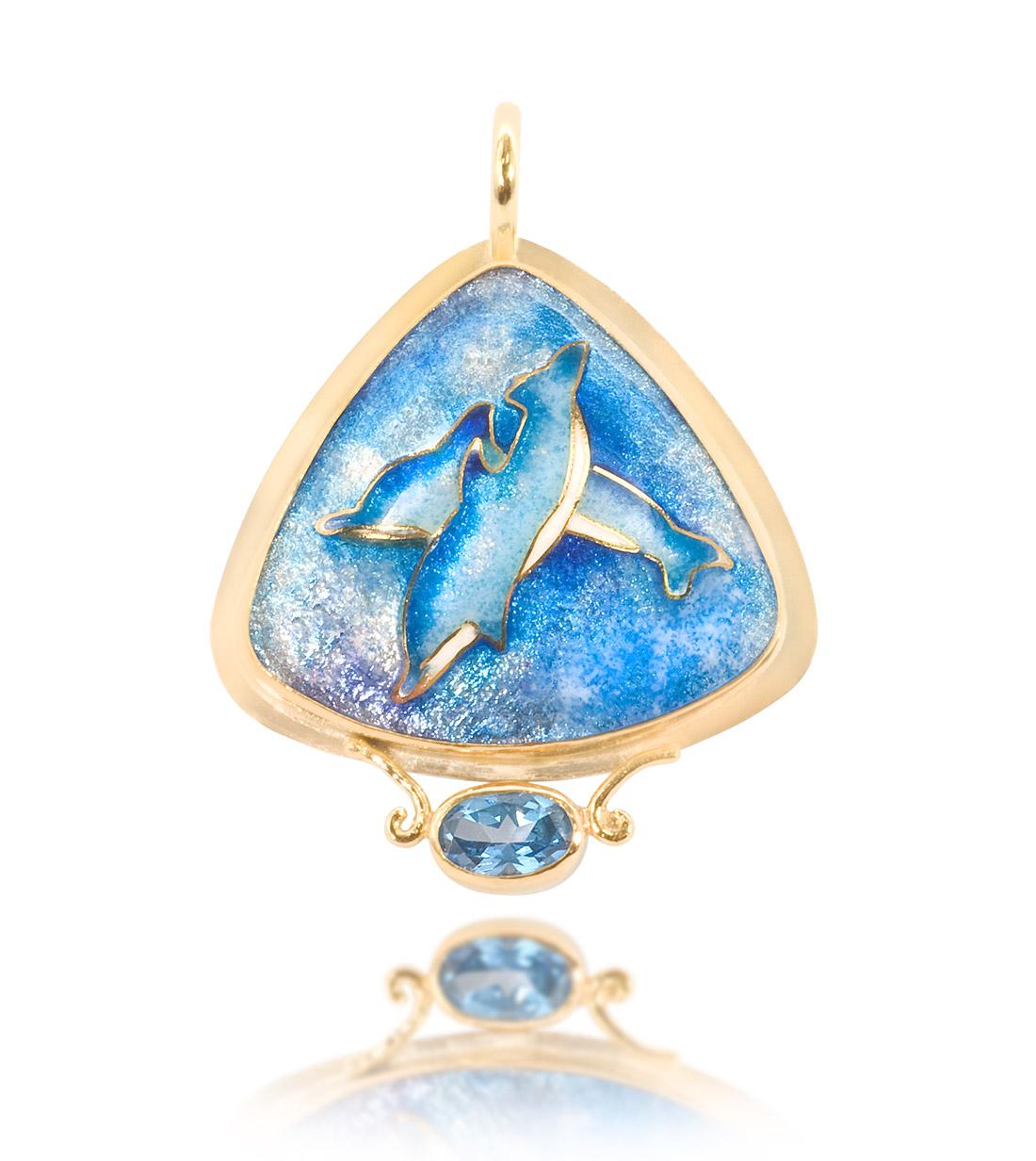Dolphin | Cloisonne jewelry | Enamel jewelry | Unique jewelry designs