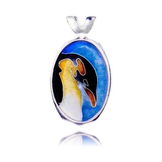 Emperor Penguin   Cloisonne Jewelry   Enamel Jewelry   Pendant