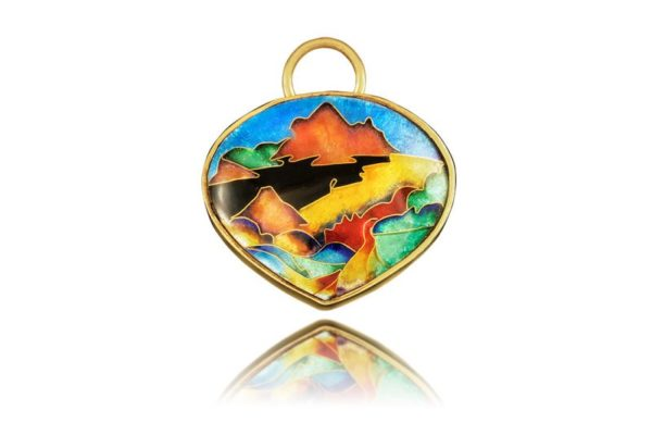Haleakala Sunrise | Hawaiian Jewelry Pendant | Cloisonne Enamel Jewelry