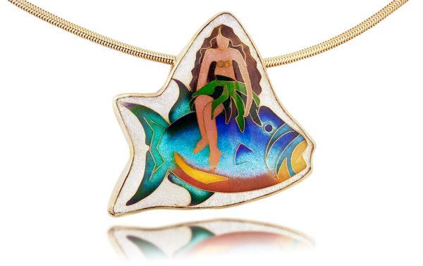 Island Girl | Enamel Necklace | Custom Hawaiian Jewelry