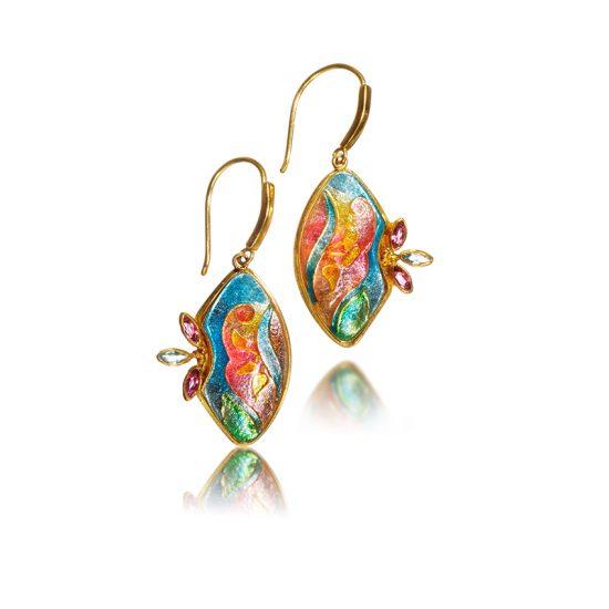 Cloisonne Jewelry   Lilium   Enamel Jewelry created by Patsy Croft