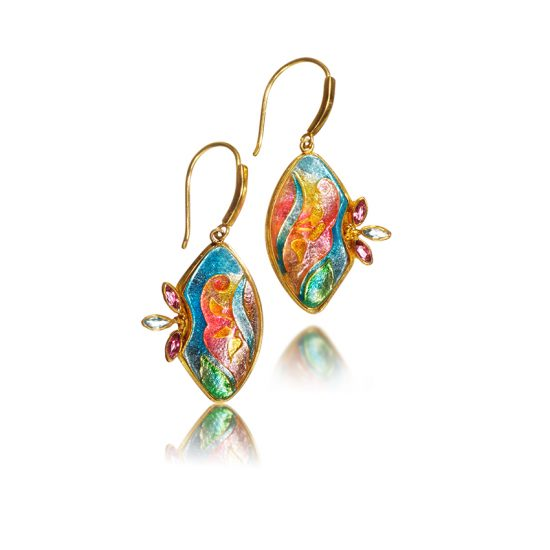 Cloisonne Jewelry | Lilium | Enamel Jewelry created by Patsy Croft