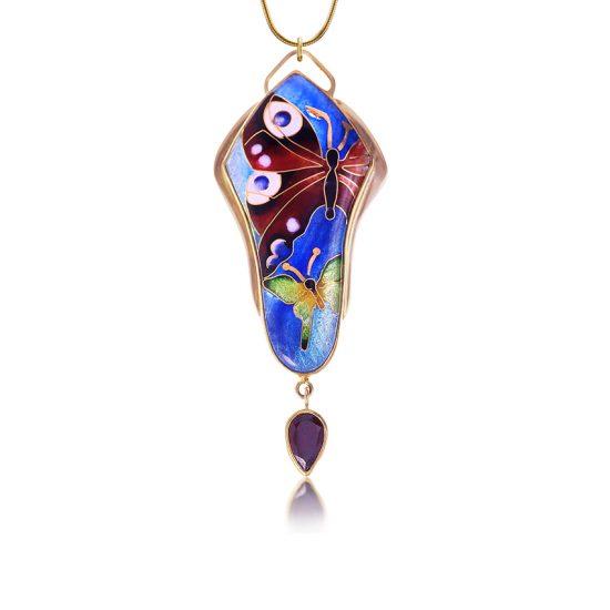 Luna | Cloisonne Pendant | Enamel Jewelry | Patsy Croft