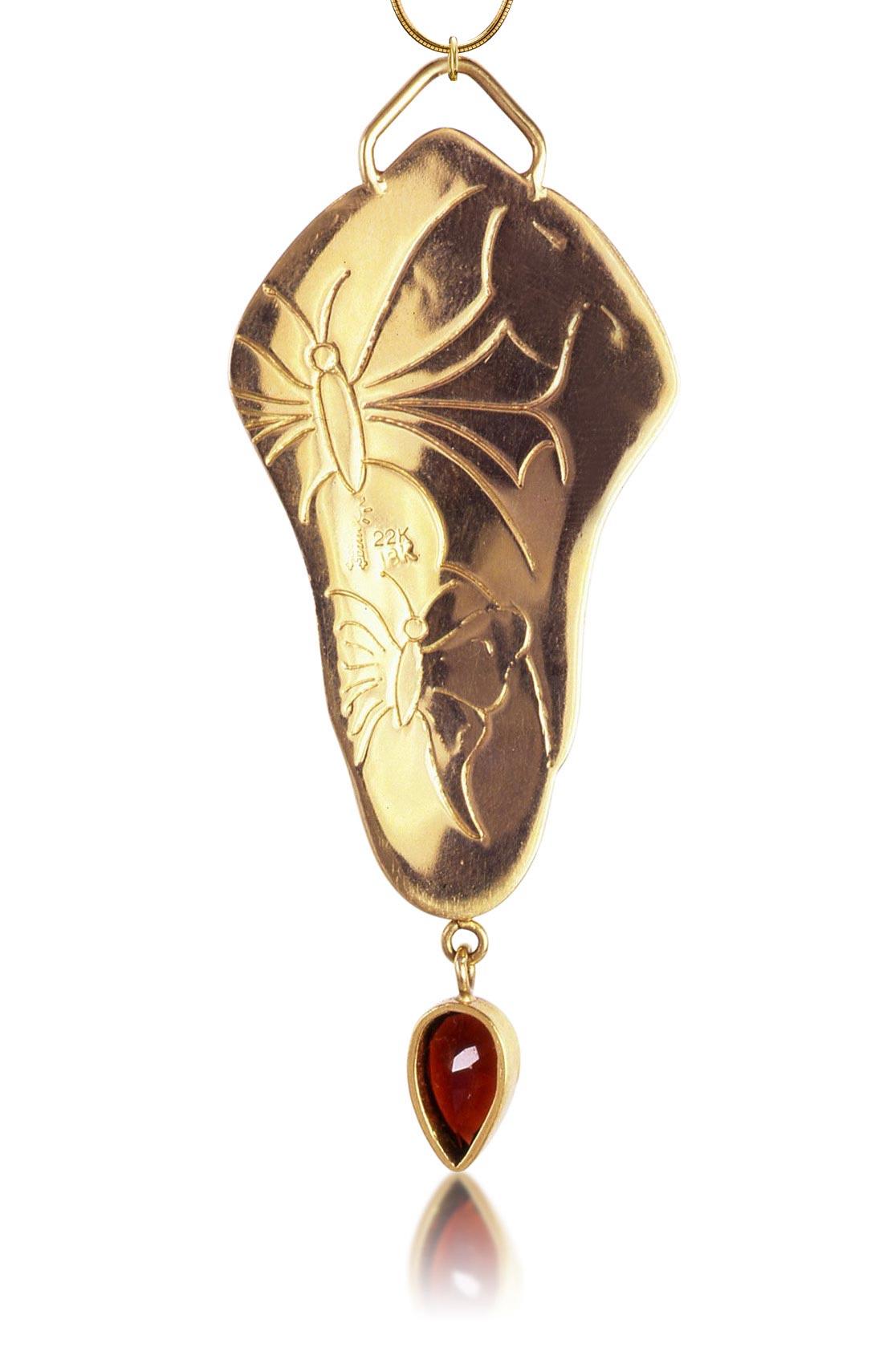 Cloisonne Jewelry | Lune Necklace | Enamel Jewelry by Patsy Croft