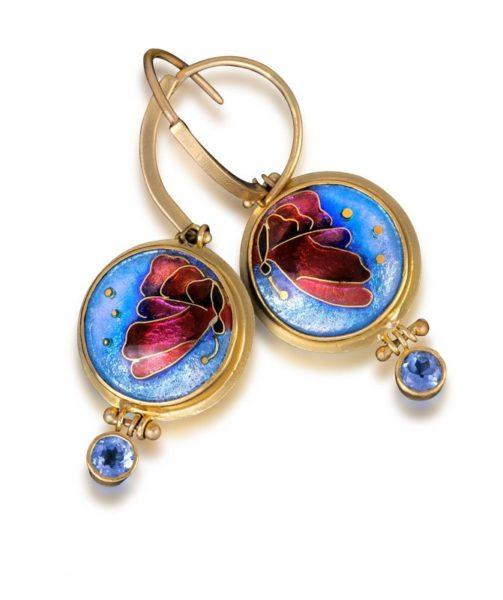 Chrysalis   Butterfly Enamel Earrings   Custom Jewels