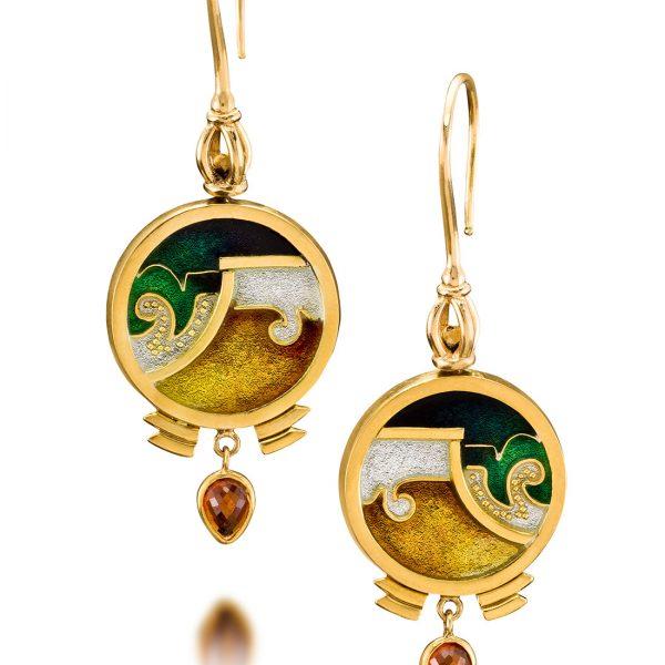 Custom Enamel Earrings   Noche Bella   Enamel Jewelry by Patsy Croft