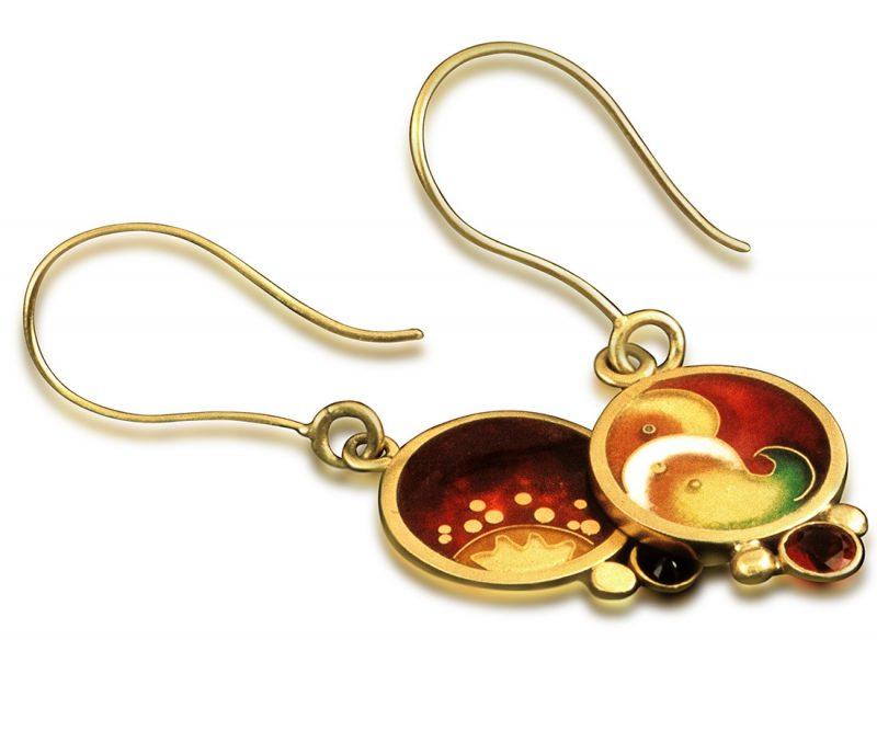 Sol Fusion |Enameled Earrings |Cloisonne Jewelry