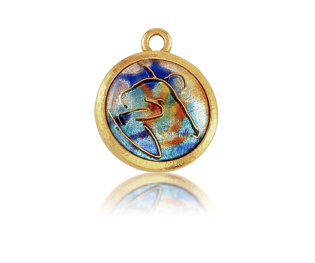 Surfer | Cloisonne Jewelry | Enamel Jewelry | Unique jewelry designs