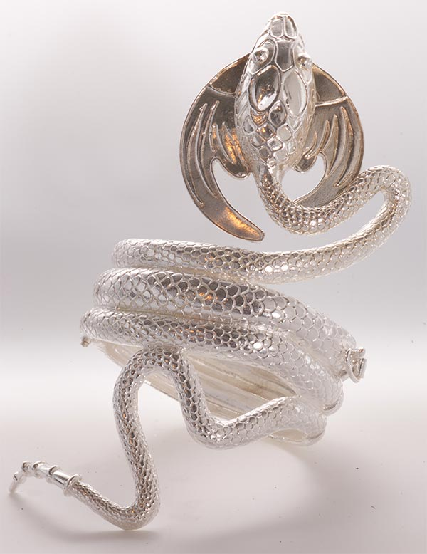 The Dragon - Silver and Gold Bracelet - Patsy Croft