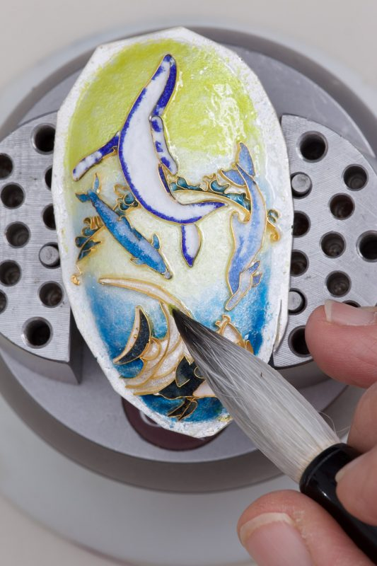 Cloisonne enamel process step by step