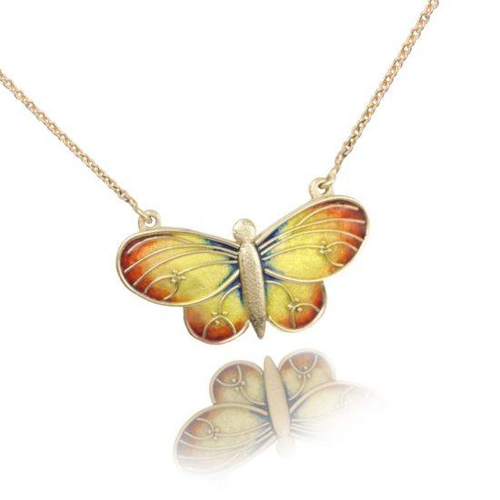 Butterfly   Custom Enamel Necklace   Enamel Jewelry