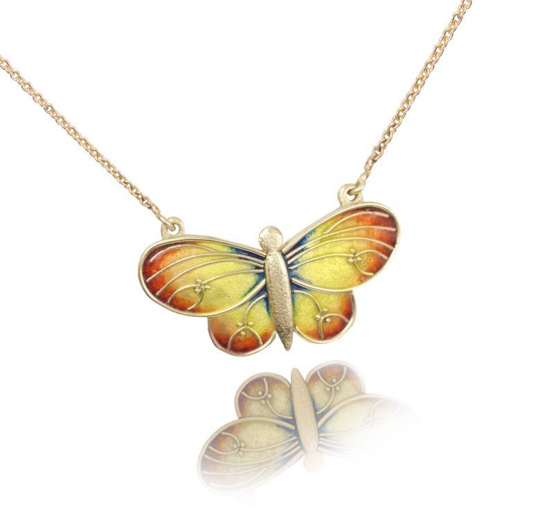 Butterfly | Custom Enamel Necklace | Enamel Jewelry