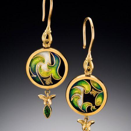 Enamel Earrings for sale